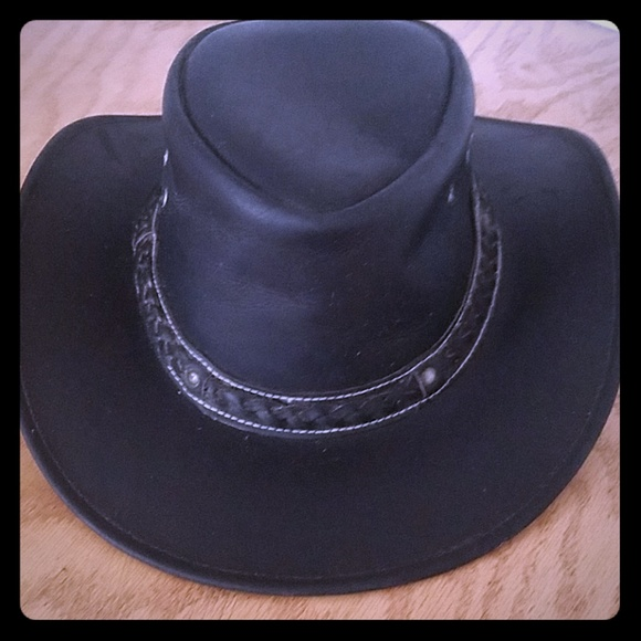 e7ac7635c545a1 Harley-Davidson Accessories   Men Or Women Real Leather Cowboy Hat ...
